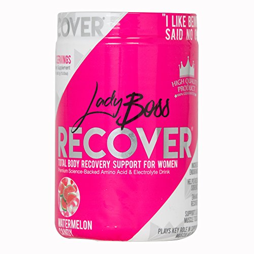 Premium BCAA Muscle Recovery Endurance Drink - LadyBoss Recover - Science Backed Post Workout Amino Energy Powder for Women - Reduce Soreness & Support Lean Muscle Tone - 30 Servings by LadyBoss