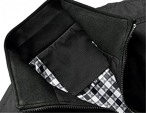 Chaqueta Primavera Outwear Puro Slim Haroty Talla Casual Jacket Otoño Negro Hombres Manga Grande Larga Color IwYxx5