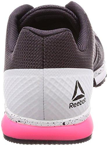 Reebok Crossfit Speed TR 2.0, Scarpe da Fitness Donna Grigio (Smoky Volcano/White/Acid Pink 000)
