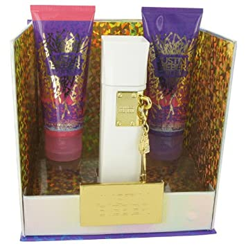 The Key By Justin Bieber for Women Gift Set 3.4 Oz Eau De Parfum Spray 3.4 Oz Body Lotion 3.4 Oz Shower Gel