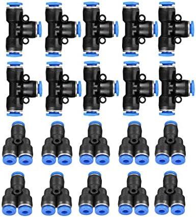 gazechimp 空気圧式 Yユニオン コネクタ プッシュイン フィッティング 継手 6mm径 高品質 20個セット