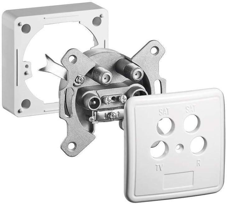 Goobay 67089 4 Loch Antennen Dose Für Unterputz Und Elektronik