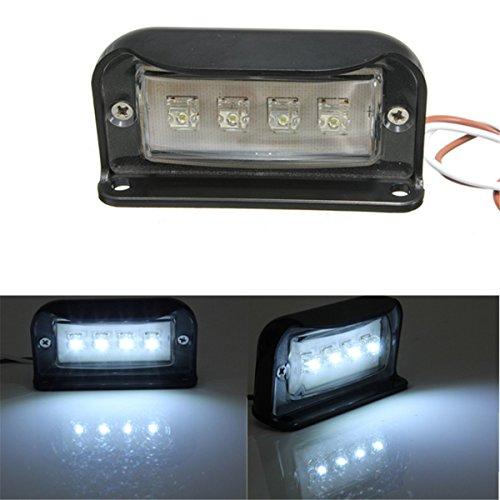 AUDEW 4 LED Kennzeichenbeleuchtung Nummernschildbeleuchtung Motorrad Kennzeichen Licht LKW Anhänger Wasserdicht