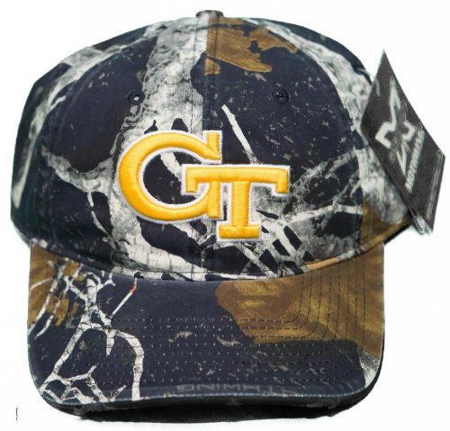 - NEW! Georgia Tech Yellow Jackets Buckle Back 3D Embroidered Mothwing Camo Cap