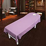 Cotton beauty salon satin bed sheets,Beauty body spa massage bedspreads hotel clubhouse single coverlet bed cover twin full-F 50x70cm(20x28inch)
