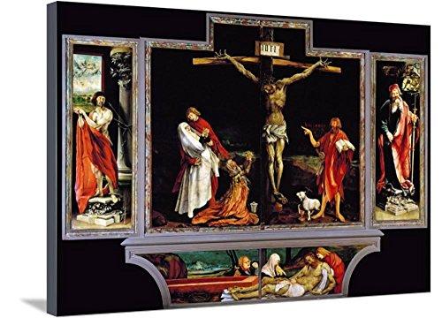 Art, Inc. The Isenheim Altar, Closed, circa 1515 by Matthias Grünewald, Stretched Canvas Print, 37x26 in