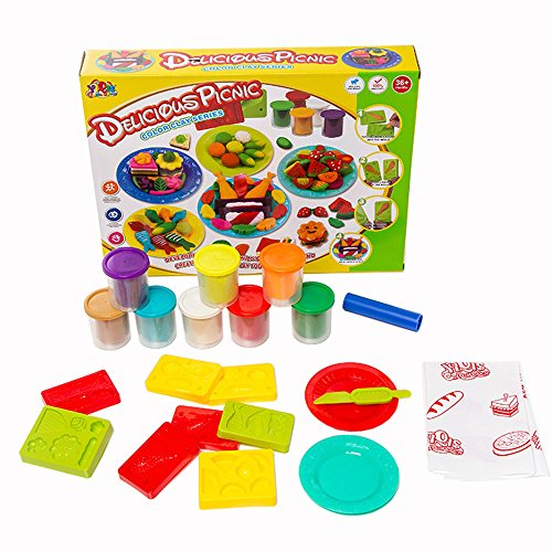 szjjx-modeling-dough-delicious-picnic-playset-toys-deluxe-plasticine-mud-with-bonding-clay-and-molds