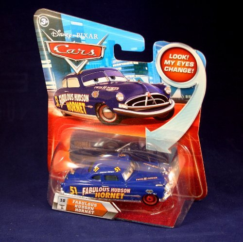 FABULOUS HUDSON HORNET #10 w/ Lenticular Eyes Disney / Pixar CARS 1:55 Scale Die-Cast Vehicle