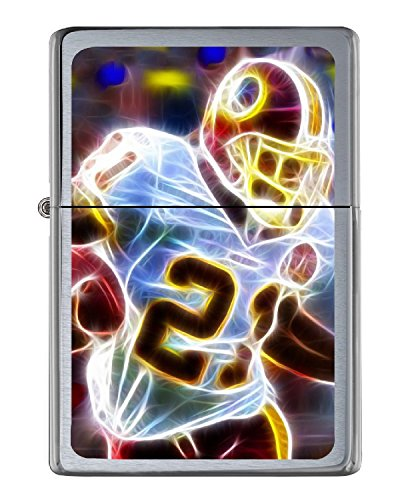 Washington Redskins Sean Taylor Flip Top Lighter Brushed Chrome Vinyl Image.