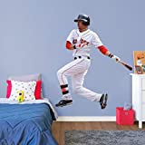 FATHEAD Mookie Betts Boston Red Sox Official MLB Vinyl Wall Graphic LIFE-SIZE, 6' FEET