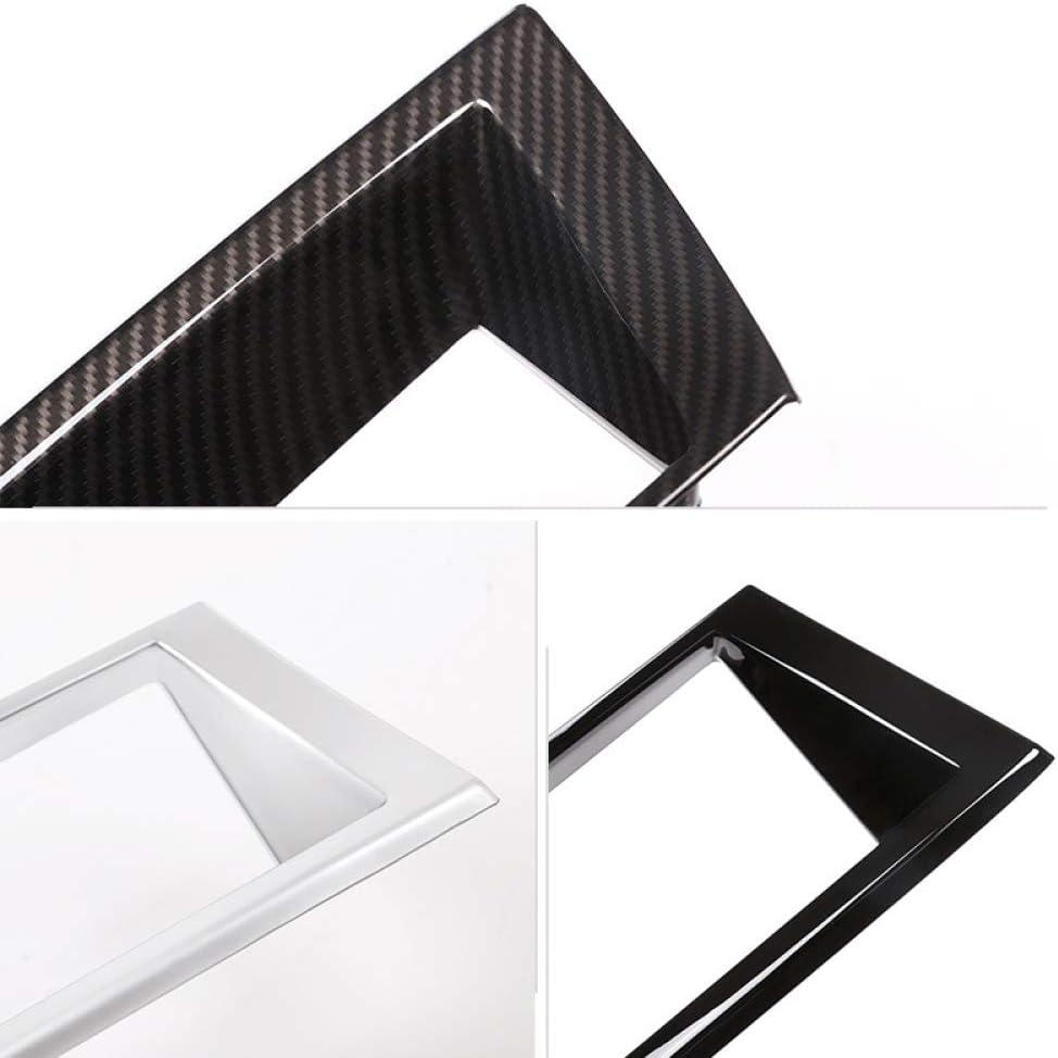 GLEETIEZ Car Styling Carbon Fiber Texture Interieur Dashboard Panel Navigation Bildschirmrahmenabdeckung f/ür BMW X5 E70 2007-2013 X6 E71 2008-2014