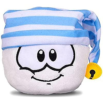 Disney Club Penguin 4 Inch Series 11 Plush Puffle White with Striped Cap Includes Coin with Code!: Toys & Games