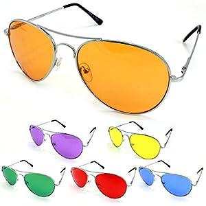 Enimay Mens The Hangover Bradley Cooper Colored Aviator Poker Sunglasses UV 400