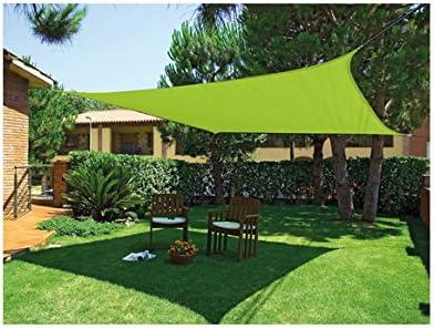 Intermas M292829 - Toldo vela sombreo cuadrado impermeable 3.6 x 3.6 m verde: Amazon.es: Bricolaje y herramientas