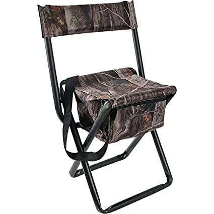 Tremendous Allen Company Camouflage Folding Hunting Stool With Back And Storage Strong Steel Legs Next G2 14 L X16 75 W X 29 H Inches Unemploymentrelief Wooden Chair Designs For Living Room Unemploymentrelieforg