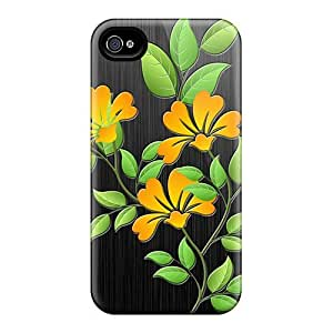ConnieJCole UkpmhDx1550lFmiH Case Cover Skin For Iphone 4/4s (vector Flowers)