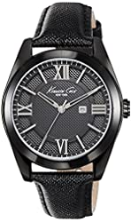 Kenneth Cole New York Women's 10023858 Dress Sport Analog Display Japanese Quartz Black Watch
