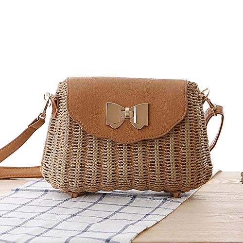 - MU.RTY Women Straw Female Bohemian Bali Rattan Beach Shoulder Bag Lady Handmade Candy Color Crossbody Bags Basket Bolsa Ss3148 Brown
