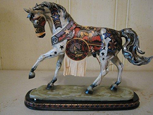 Wolf Moon Horse Spirit Hand Decoraterd Statue with Genuine Deer Skin Mask And Robe - Wolf Horse