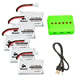 Noiposi 3.7v 720mah 25c Lipo Battery 5 PCS with X6 Charger for UDI U45 Syma X5 X5c X5C-1 X5SW X5SC X5SC-1 Cx-30W Cx-31 Quadcopter