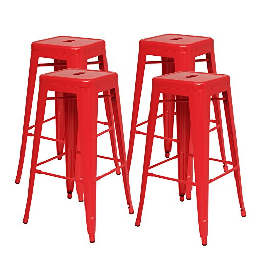 New Pacific Direct Metropolis Metal Backless Counter Stool 26