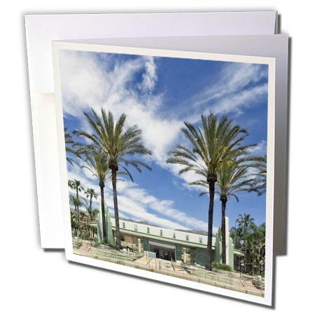 3dRose Boehm Photography Travel - Burbank California Train Station - 12 Greeting Cards with Envelopes (gc_282327_2)