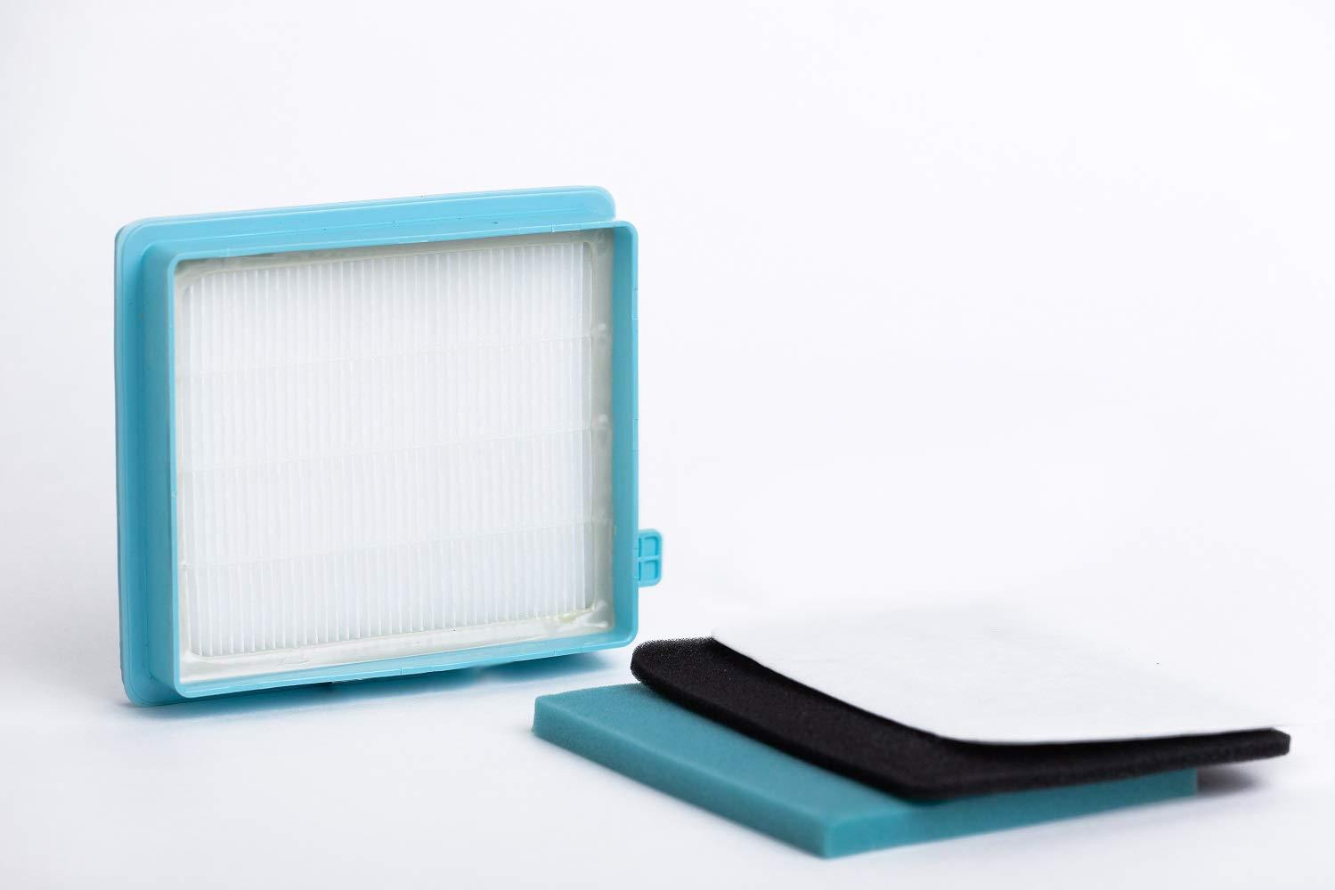 alternativa a FC8058//01 Kit di filtri per gli aspirapolveri Philips PowerPro Active e PowerPro Compact Prodotto genuino da Green Label