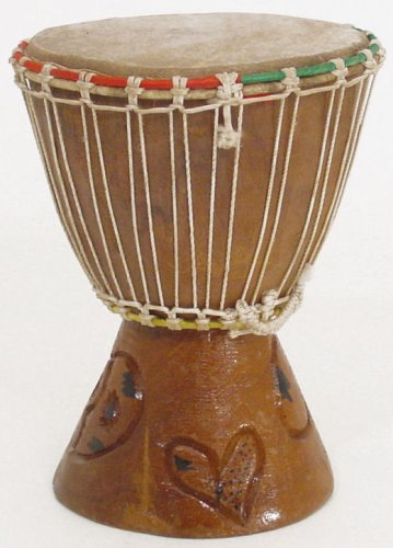 7'' Extra Small Authentic Handmade Djembe Drum - Traditional African Musical Instrument by African Music