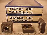Valenite - Cnmg 432A6K Vc671 Valenite Cermet Inserts (10Pcs) New&Original