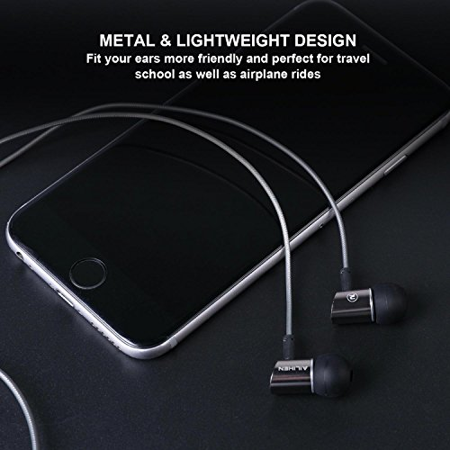 AILIHEN Metal Earbuds with Microphone In Ear Headphones Wired Earphones for Android/IOS Cell Phones iPad iPod Laptop Tablet Computer by AILIHEN (Image #4)
