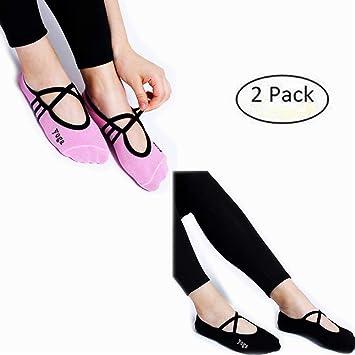 Women Non Slip Skid Pilates Yoga Socks Dance Mat Massage Socks Best Fitness  Dance Pilates Ballet