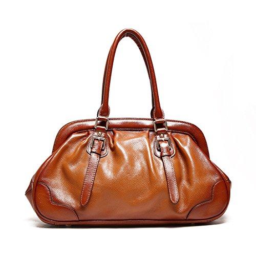AINIMOER-Womens-Cow-Leather-Top-handle-Tote-Shoulder-Messenger-Bag-Cross-Body-Purse-Vintage-Handbag
