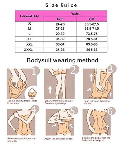 KOOYOL Corsé para Mujer de Perfecto Figura con Gancho, Body Fija Moldeadora Posparto Cintura Agradable Shaping Bodysuits Sin Costuras Negro-A