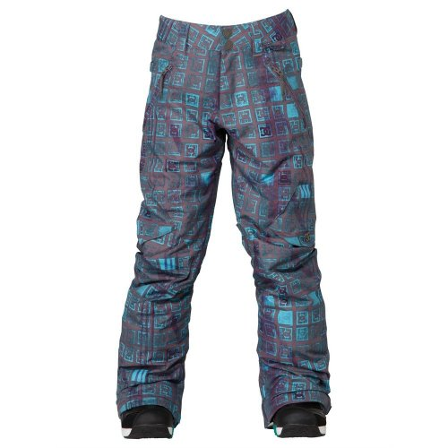 DC Shoes Girls Shoes Ace K 14 - Snowboard Pants - Girls - Xs - Black Dark Gull Grey Monogram Xs