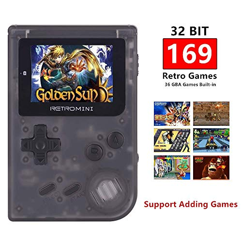 TAPDRA Retro Mini Handheld Video Game Console System, Classic 169 Built in English Games, Support up to 32GB TF Card with NES and GBA Games (Best Handheld Game System For A 5 Year Old)