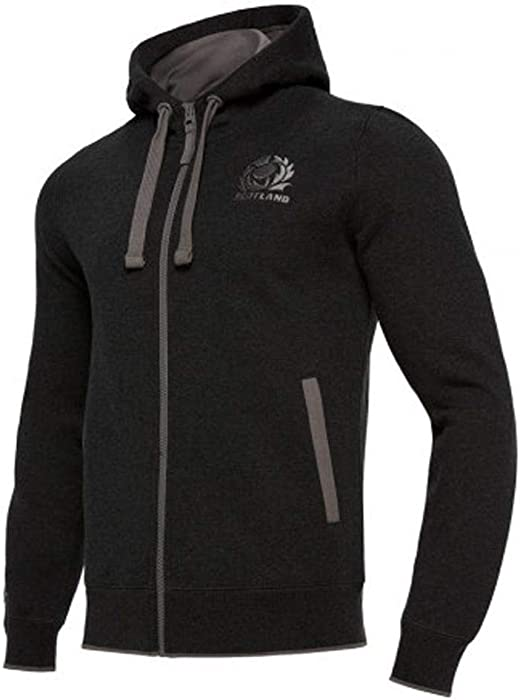 Black//Sky Glasgow Warriors 2018//19 Heavy Cotton Hooded Rugby Sweat
