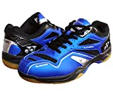 Yonex SRCR CFM Junior Non Marking Badminton Shoes - Blue/Black, 2 UK (for Juniors)