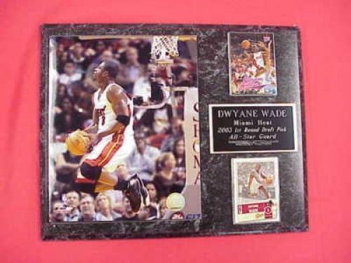 Dwyane Wade Miami Heat 2 Card Collector Plaque w/8x10 Photo