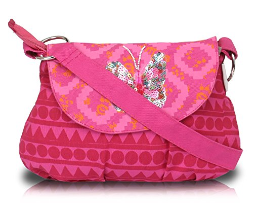 Pick Pocket - Bolso cruzados de Lona para mujer Rosa rosa