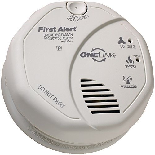 (First Alert - SCO501CN-3ST - FIRST ALERT SCO501CN-3ST ONELINK Battery-Operated Combination Smoke & Carbon Monoxide Alarm with Voice Location )