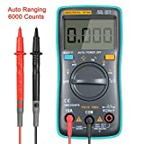 URXTRAL 6000 Counts Auto Ranging Digital Multimeter TRMS Multi Tester with Backlight Measure Temperature AC/DC/OHM/Hz/Temp/Duty Cycle/Continuity Tester