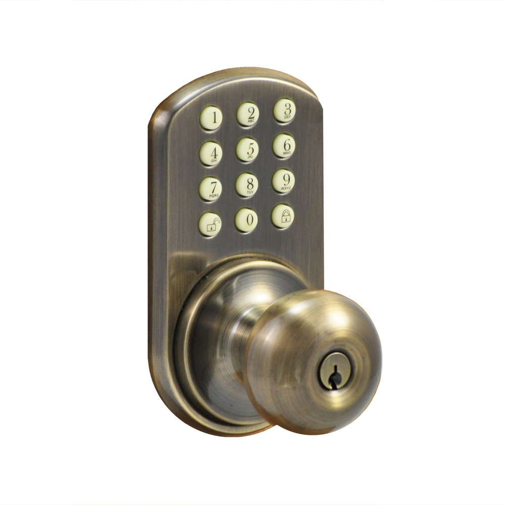 Morning Industry HKK-01AQ Keypad Knob Entry, Antique Brass