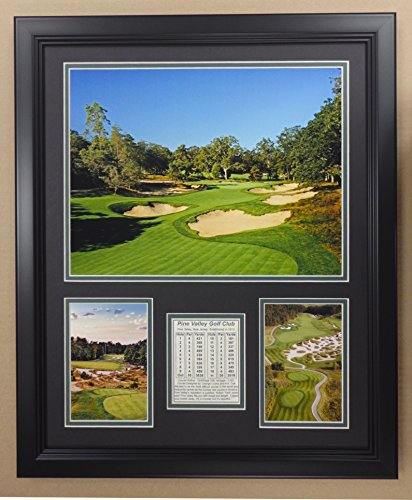 Legends Never Die PGA Pine Valley Golf Course Double Matted Photo Frame, 18