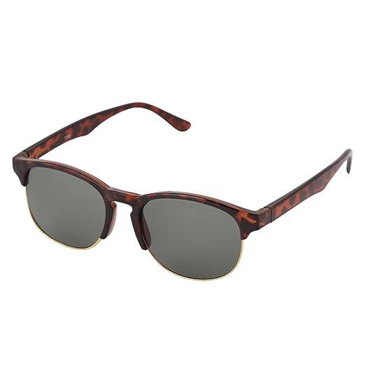 e8c8845963fbd Gansta UV Protected Demi Brown   Gold Oval Clubmaster Sunglasses for Men  Women (GN-11071-DA-G15
