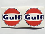 2 Gulf Gasoline Oil Die Cut Decals by SBD DECALS