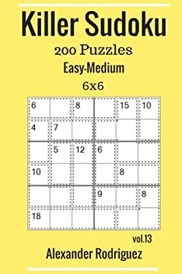 Buy Killer Sudoku Puzzles - 200 Easy to Medium 6x6 Vol  13