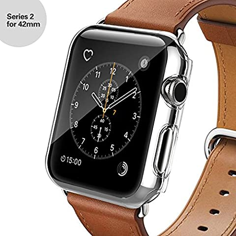 Apple Watch Series 2 Case, Oittm [Crystal Clear] PC Hard Screen Protector All-around Protective Ultra-thin Cover for Apple Watch Series 2/Edition/Nike+ 2016 [Lifetime Replacements] (42MM)