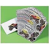 Fun Express Monster Truck Stickers - 12 Pieces