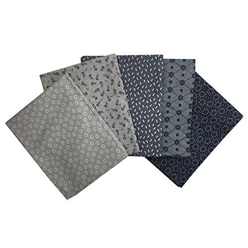 The Craft Cotton Essential Trend Fat Quarter Bundle, Cotton, Grey, 1
