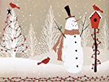 WOODLAND SNOWMAN 24''x417'Recycled Gift Wrap Counter Roll (1 unit, 1 pack per unit.)